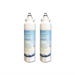 2x LG replacement ADQ73613401, LT800P Fridge filter by Aqua blue H2O