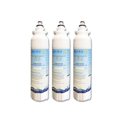 3x LG replacement ADQ73613401, LT800P Fridge filter by Aqua blue H2O