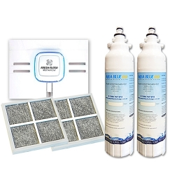 2x LT800PWF (ADQ73613401) LG Replacement Water  Filter with 2x LG AIR Filter LT120F (ADQ73214404)