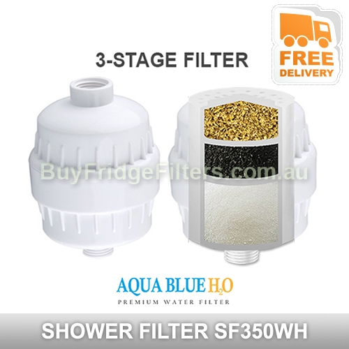 Aqua blue H20 Iin-line bath shower Filter chlorine removal  Water Purifier