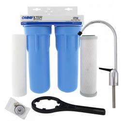 OmniFilter OT32 Whole House 2 Step Undersink Water Filtration System Kit