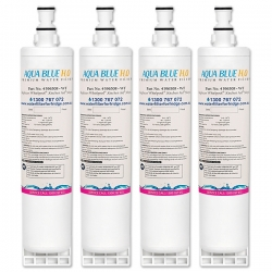 4x 4396508 Whirlpool fridge filter Aqua Blue H20