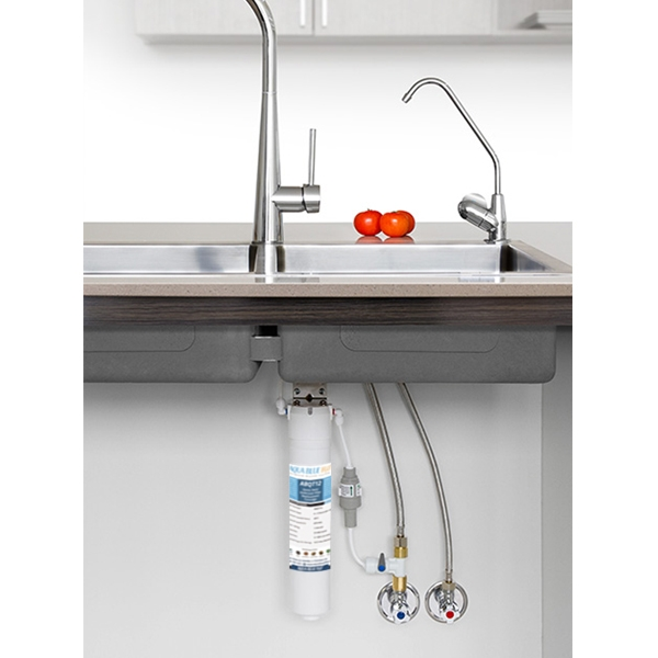 AB  QT12R | Quick Twist Undersink Water Filter System With LED Faucet