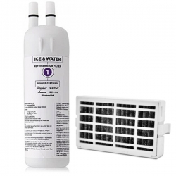 Whirlpool Fridge Water Filter W10295370 + Refrigerator Air Filter W10311524 Set