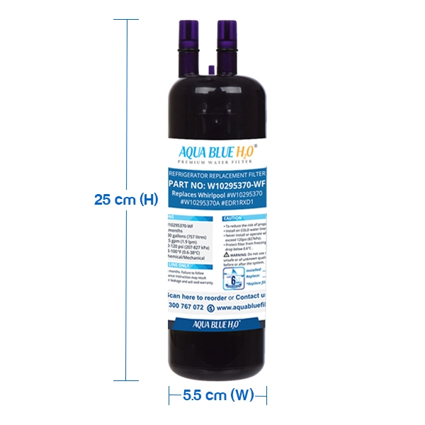 4x Whirlpool W10295370 Filter Refrigerator Water Filter By